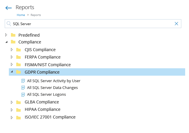 Netwrix Report Compliance
